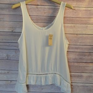 NWT American Eagle Outfitters White Open Back Tank